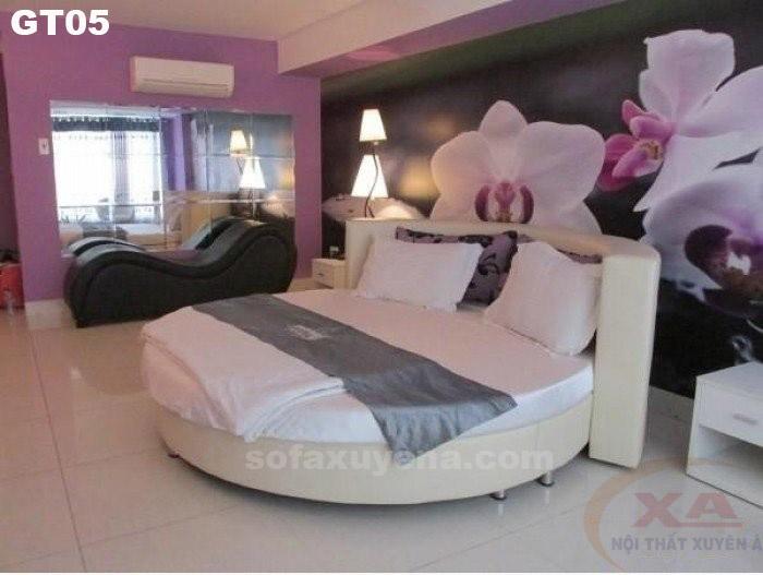 Giường tròn hiện đại GT05 tại Nội thất Xuyên Á