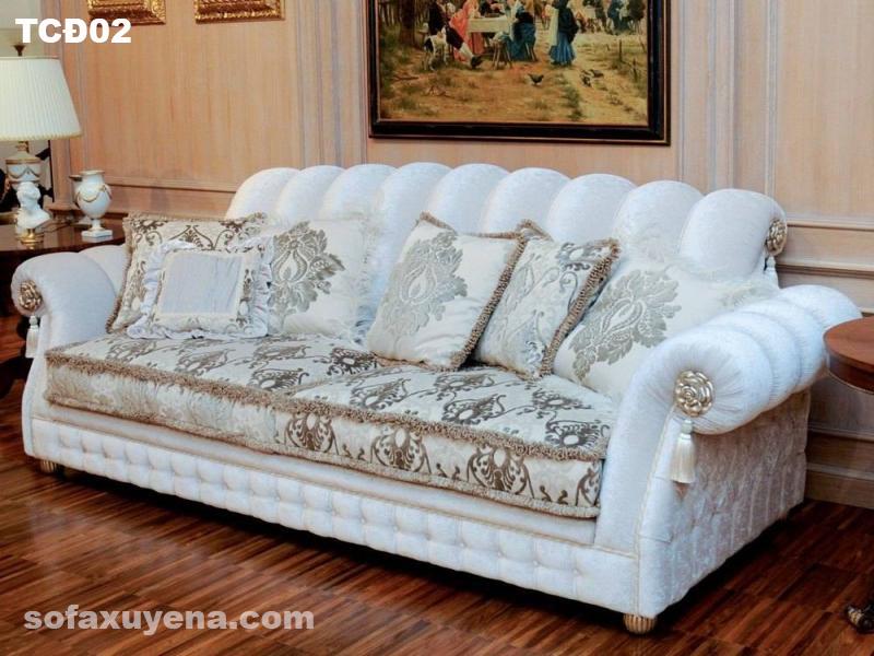 Sofa băng tân cổ điển TCĐ09 tại Nội thất Xuyên á