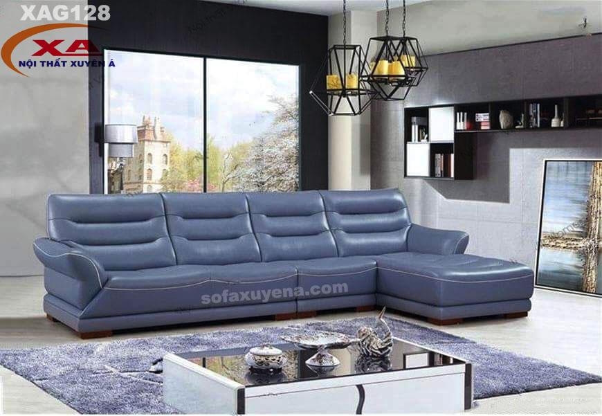 Sofa da XAG128 tại Nội thất Xuyên Á
