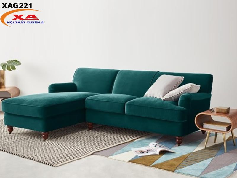 Sofa vải nhung XAG221 tại Sofa Xuyên Á