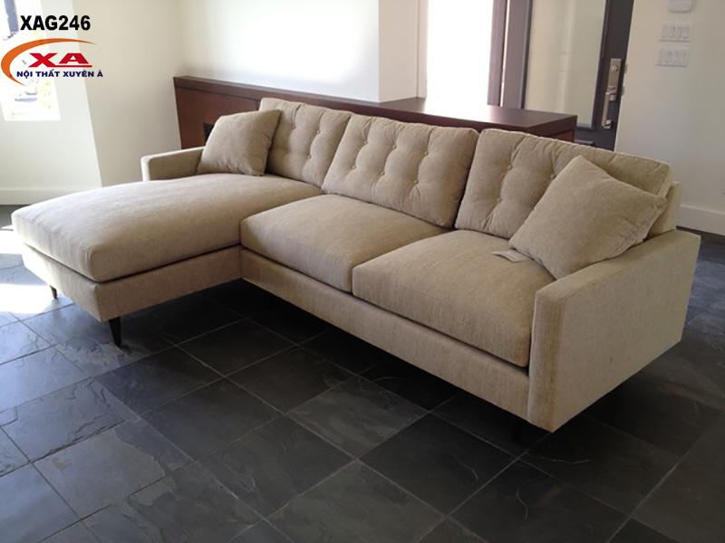 Ghế sofa vải đẹp XAG246 tại Sofa Xuyên Á