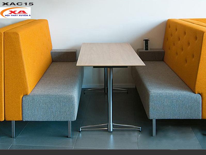 Sofa cafe vải bố XAC15 tại Sofa Xuyên Á