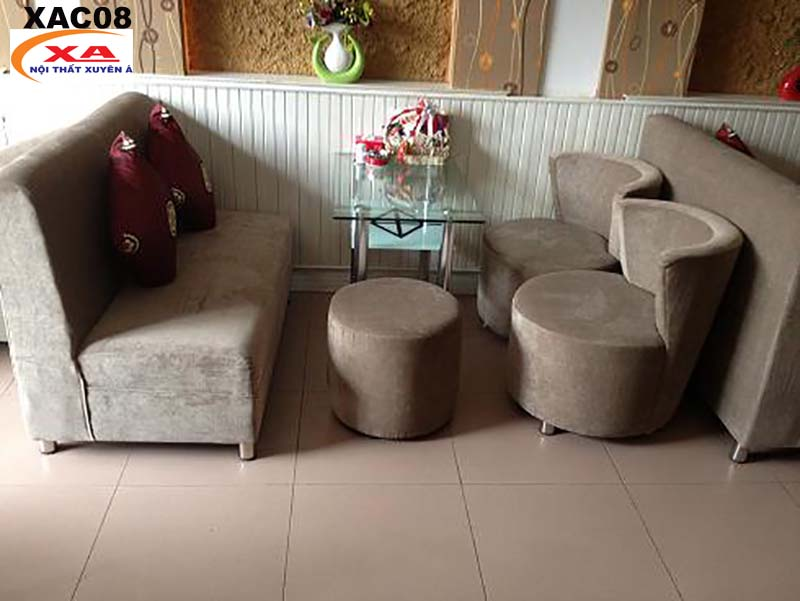 Sofa cafe vải nhung XAC08 tại Sofa Xuyên Á