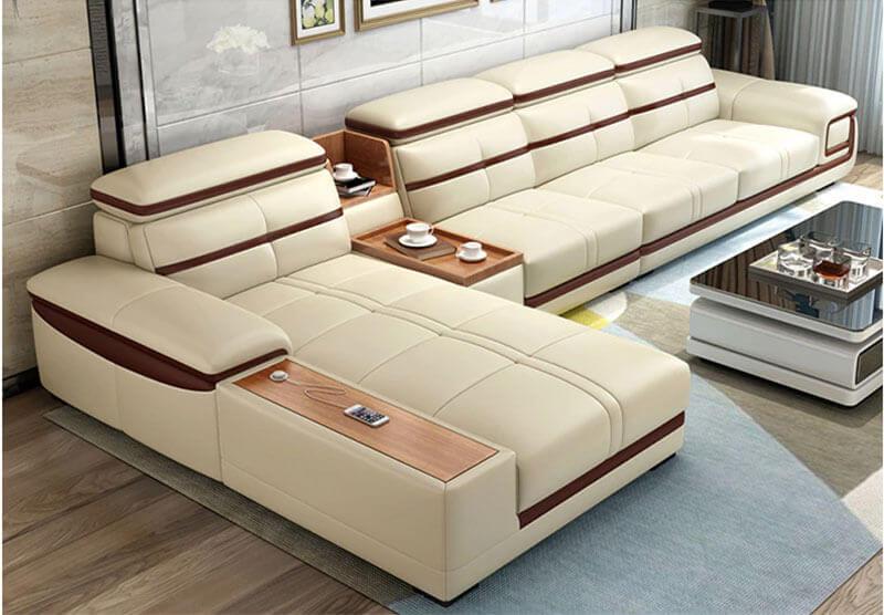 Sofa da nhập khẩu XAG244 tại Nội thất Xuyên Á