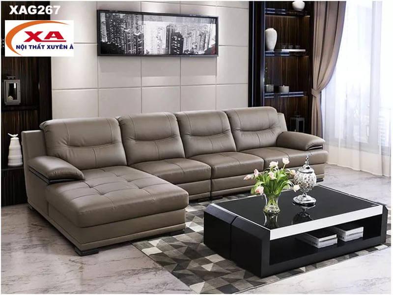 Bộ ghế sofa da XAG267 tại Nội thất Xuyên Á