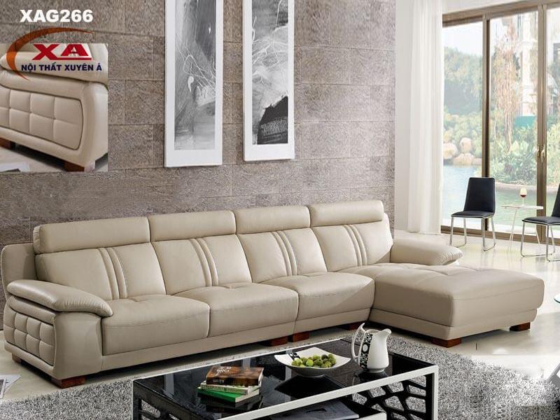 Bộ sofa da cao cấp XAG266 tại Nội thất Xuyên Á