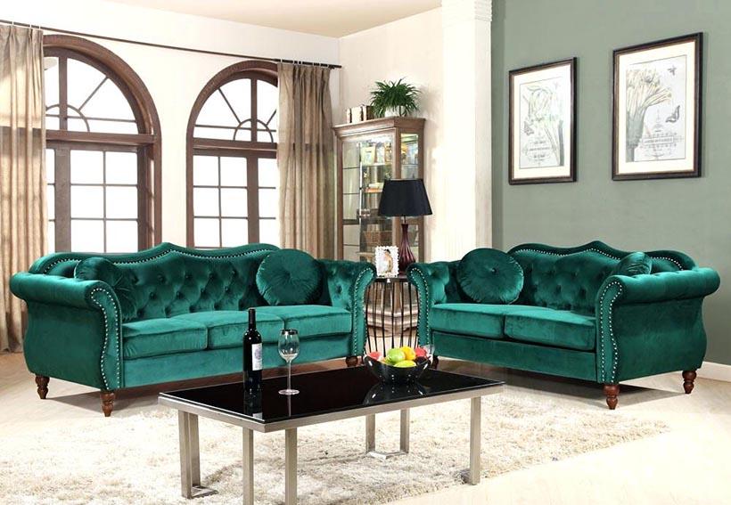 Ghế sofa băng vải nhung