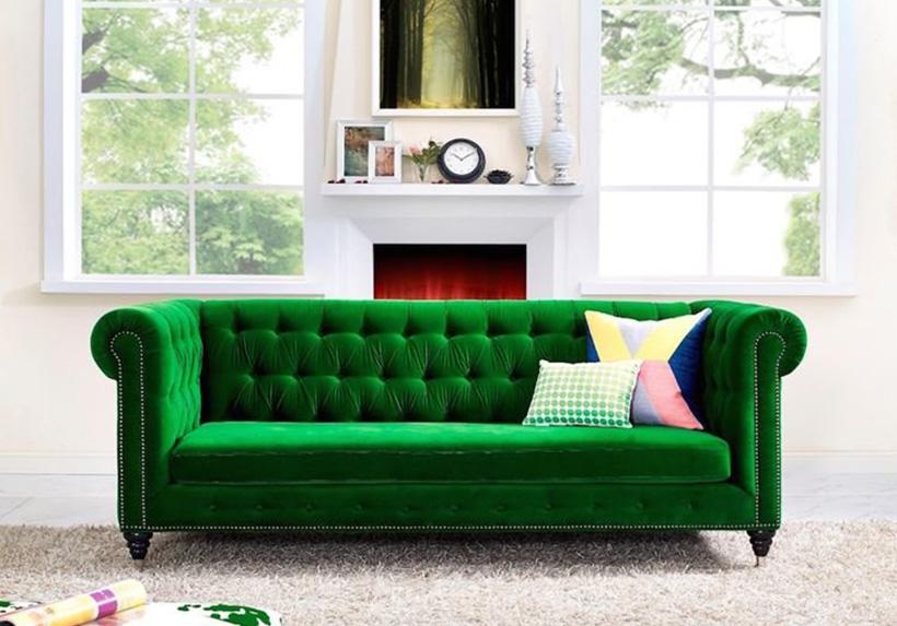 Sofa băng vải nhung - Nội thất Xuyên Á