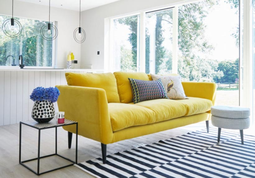 Sofa băng vải nhung tại Nội thất Xuyên Á - Sofa