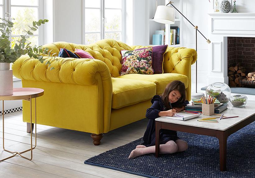 Sofa băng màu vàng - Nội thất Xuyên Á