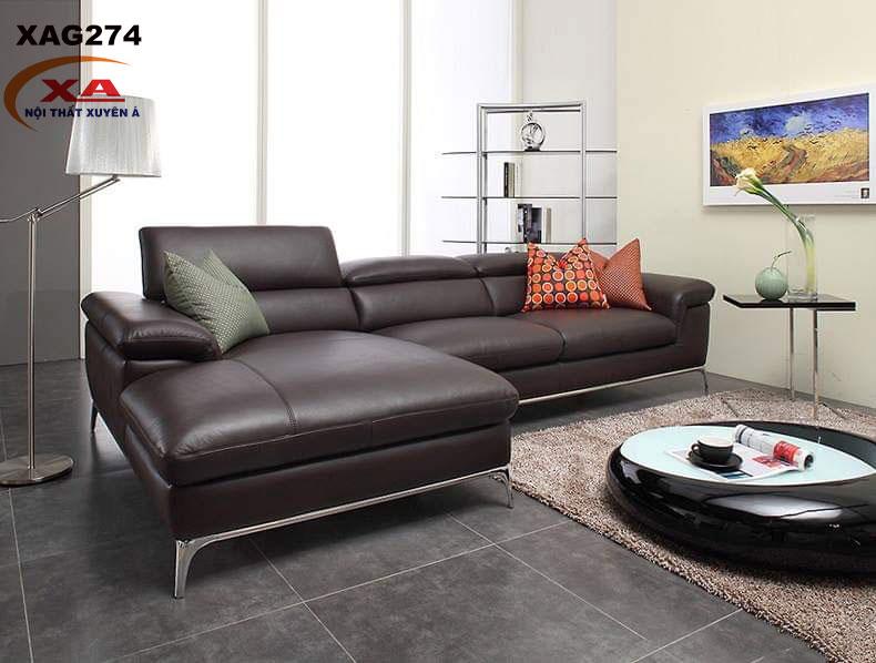 Mẫu ghế sofa da XAG274 tại Nội thất Xuyên Á