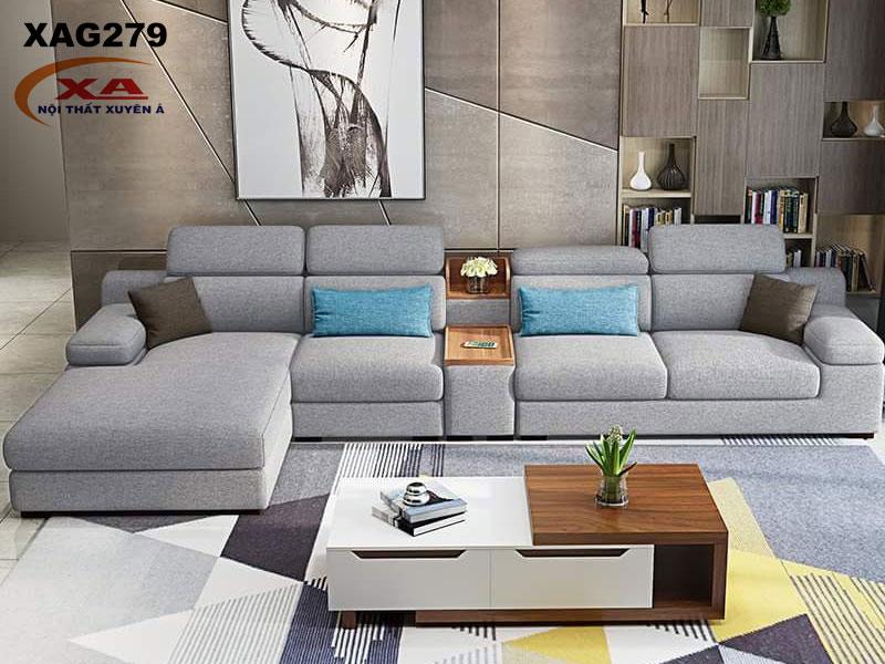 Mẫu ghế sofa vải đẹp XAG279 tại Nội thất Xuyên Á