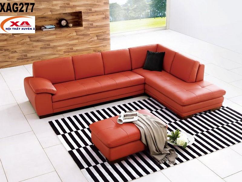 Ghế sofa da nhập khẩu XAG277 tại Nội thất Xuyên Á