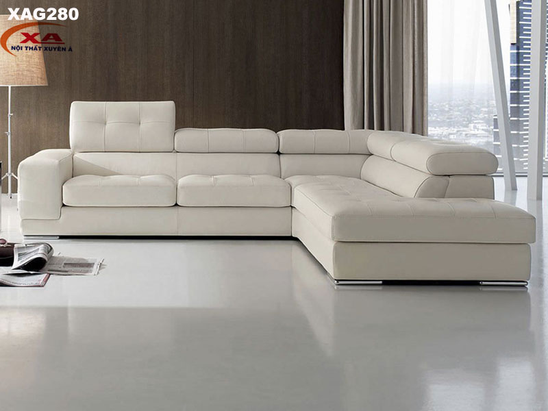 Bộ sofa da hiện đại XAG280 tại Nội thất Xuyên Á
