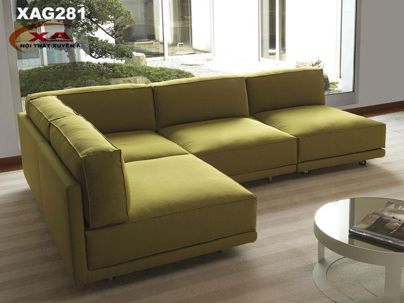 Sofa góc vải XAG281 tại Nội thất Xuyên Á