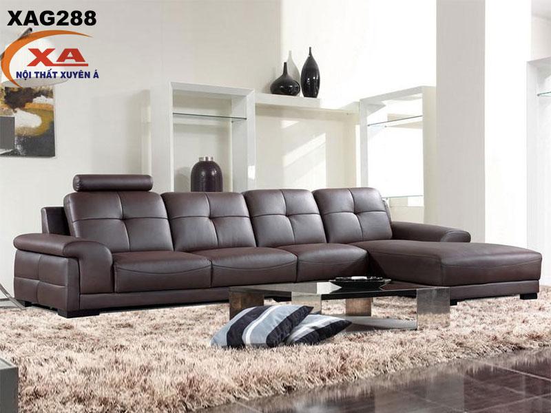 Sofa da TPHCM XAG288 tại Nội thất Xuyên Á
