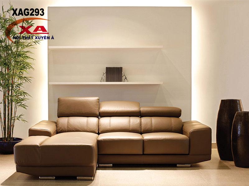 Sofa da giá rẻ XAG293 tại Nội thất Xuyên Á