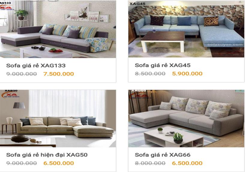 Ở đâu bán ghế sofa giá rẻ? - Nội thất Xuyên Á