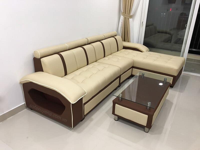 Mẫu sofa da Hàn Quốc XAG303 tại Nội thất Xuyên Á