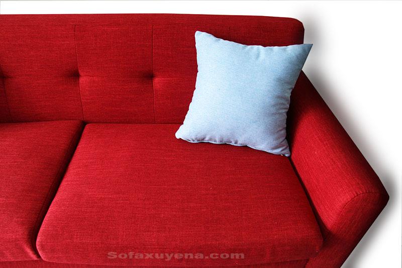 Sofa băng màu đỏ XAB74 tại Nội thất Xuyên Á