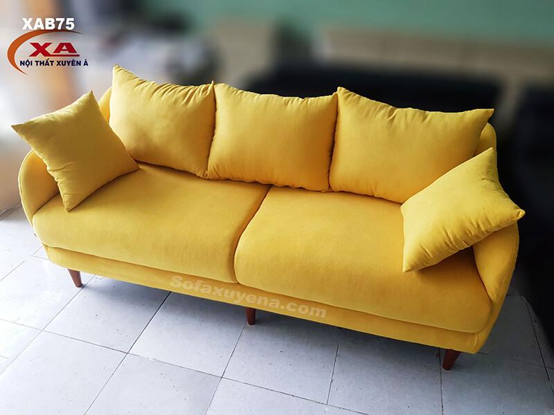 Sofa băng màu vàng XAB75 tại Nội thất Xuyên Á