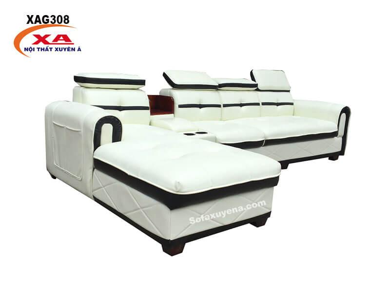 Sofa chữ L XAG308 (Hình thực tế tại Nội thất Xuyên Á)