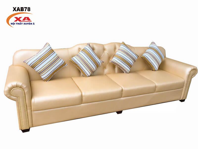 Ghế sofa băng da XAB78 tại Nội Thất Xuyên Á