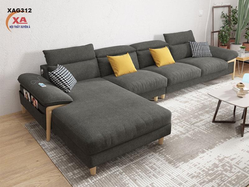 Sofa vải bố đẹp XAG312 tại Nội Thất Xuyên Á
