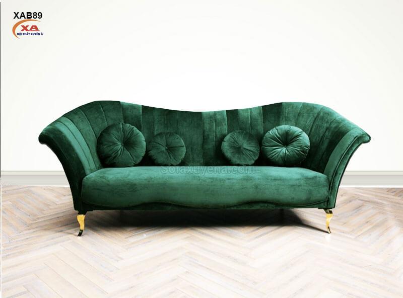 Sofa băng màu xanh rêu XAB89 tại Nội Thất Xuyên Á