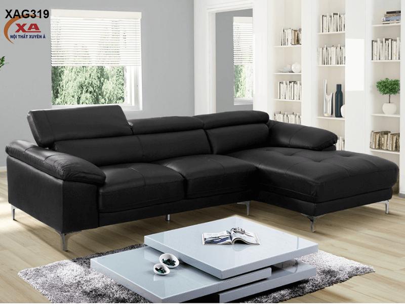 Sofa da chữ L XAG319 tại Nội Thất Xuyên Á
