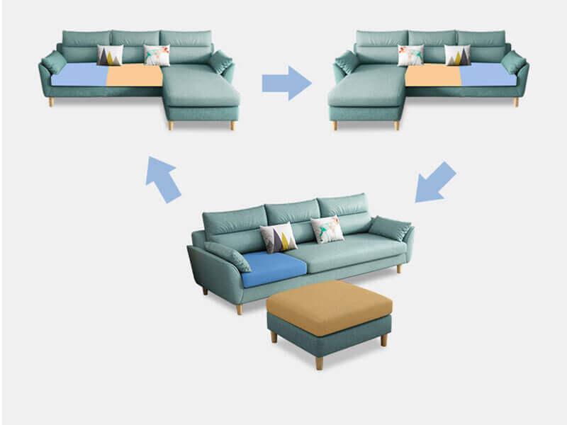 Mẫu sofa băng vải XAB90 tại Nội Thất Xuyên Á