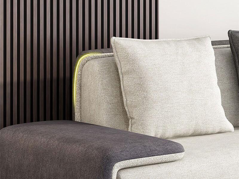 Cấu tạo của Ghế sofa đẹp hiện đại XAG326 tại Nôi Thất Xuyên Á