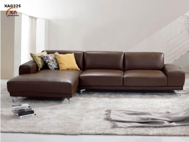 Sofa da nhập khẩu cao cấp XAG325 tại Nội Thất Xuyên Á