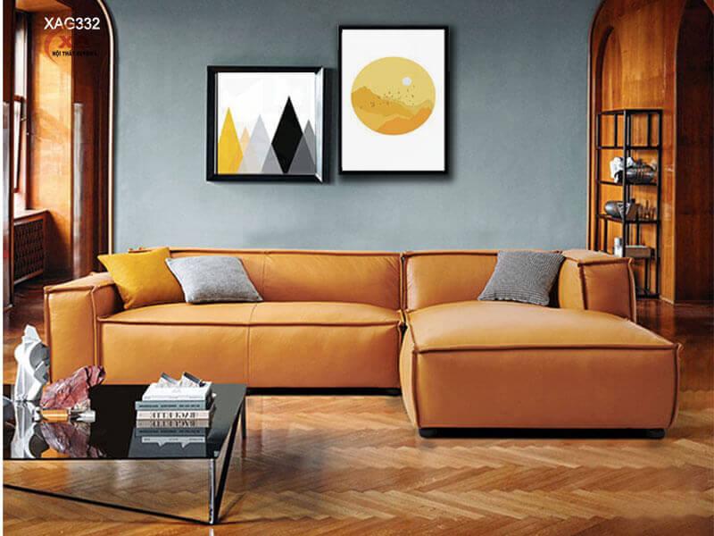 Ghế sofa da đẹp hiện đại XAG332 tại Nội Thất Xuyên Á