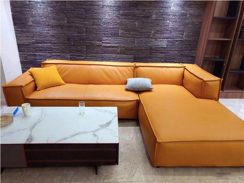 Sofa da đẹp hiện đại XAG332 tại Nội Thất Xuyên Á
