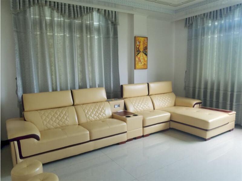 Sofa góc bọc da XAG337 tại Nội Thất Xuyên Á